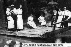 Hurt family ferry along the Yadkin River near the Elkin Hurt homeplace