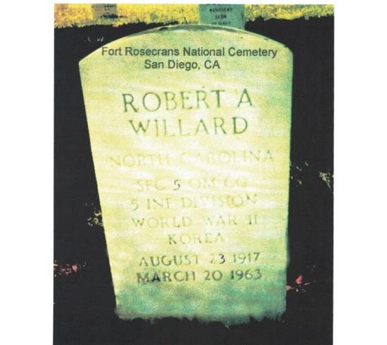 Robert Willard tombstone